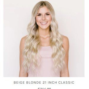 BFB Beige Blonde Seamless Hair Extensions